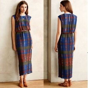 HD in Paris Plaid Andaz Empire Lined Maxi Dress 10